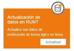actualización de datos en RUNT